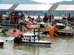 Cardboard boats with mechanical assist, New Richmond, OH, 2011
