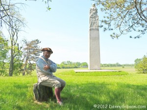 Bill Smith at George Rogers Clark monument