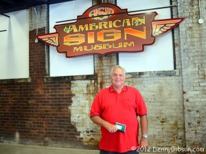 Don Hatch at American Sign Museum