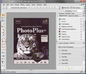 Serif PhotoPlus X5 screen shot