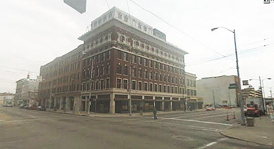 2013: The corner of East Third and Jefferson Streets as it appears today