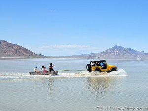 Flooded Bonneville Salt Flats